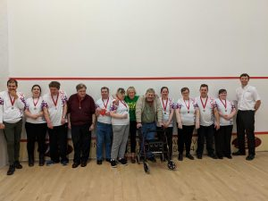 Image of a group of Learn Devon learners with their medals at the Quay Leisure Centre in Kingsbridge