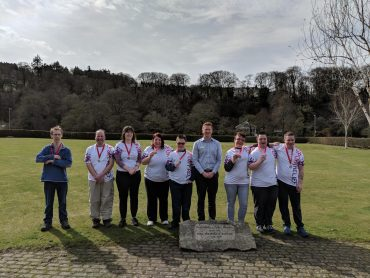 Image of group of Learn Devon learners with their medals