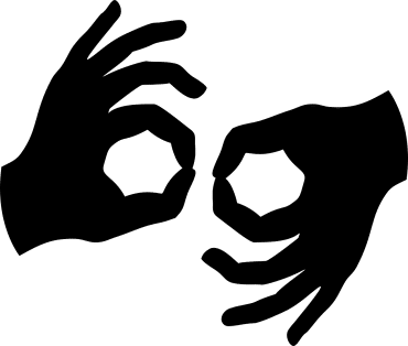 Cartoon image of two hands making the OK sign